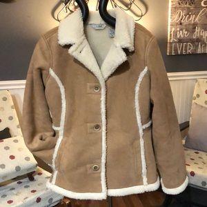 LLBean Sherpa lined jacket size medium/junior 6
